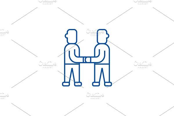 Treaty,arrangement line icon concept