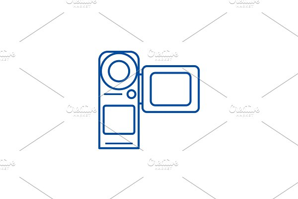 Video camera,movie making line icon