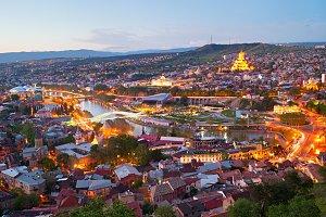 Tbilisi city skyline, Georgia