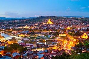 Panoramic Tbilisi view, Georgia