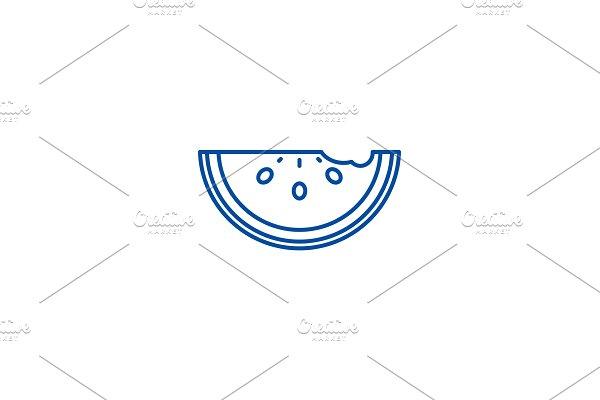 Watermelon line icon concept