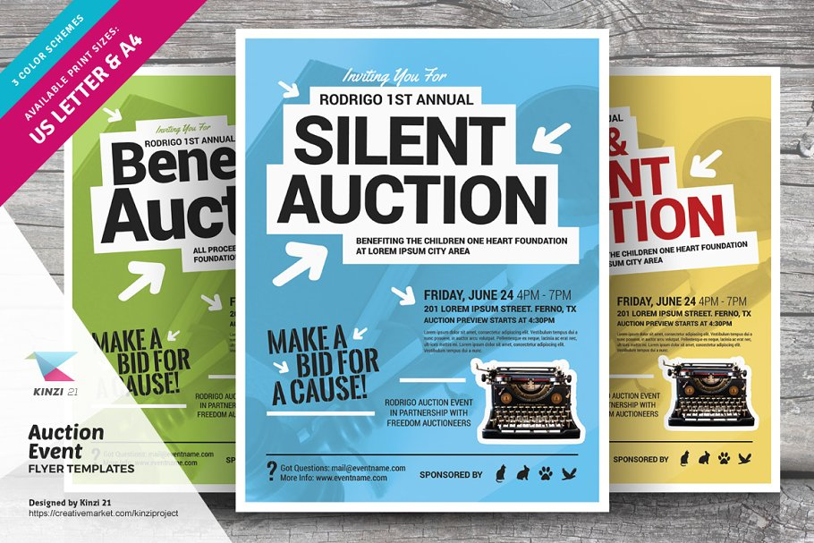 Auction Event Flyer Templates Flyer Templates Creative