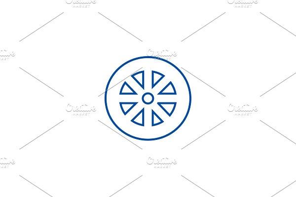 Wheel line icon concept. Wheel flat
