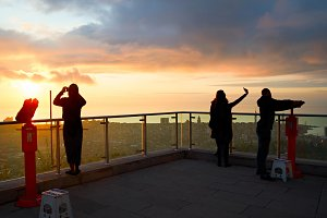 Silhouettes on the viewpoint, Batumi