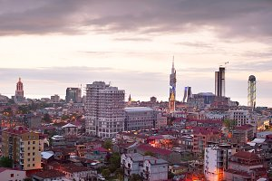 Batumi skyline at sunset, Gergia