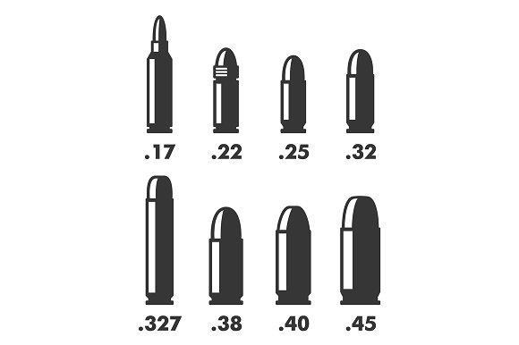 Weapon Bullets Sizes and Calibers