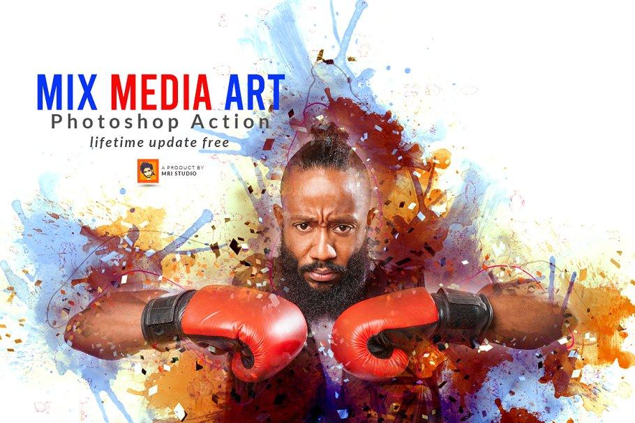 Mix Media Art PS Action