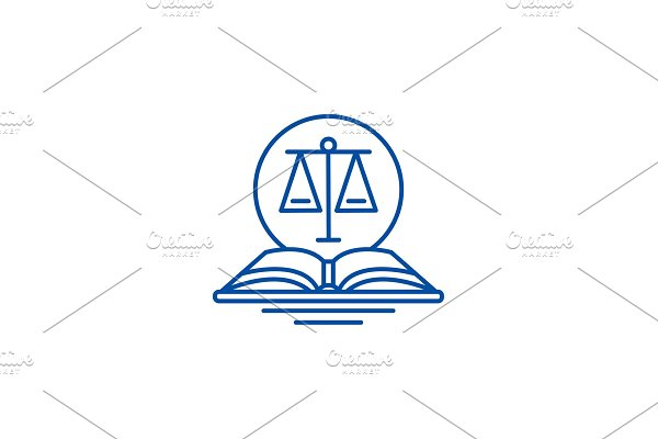 Legal code line icon concept. Legal
