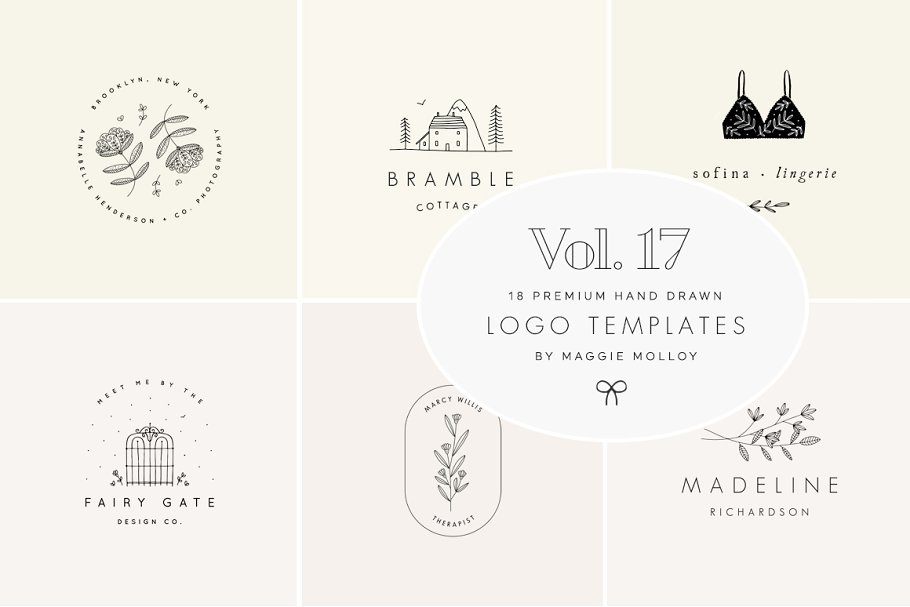 Feminine Premade Logo Bundle Vol. 17