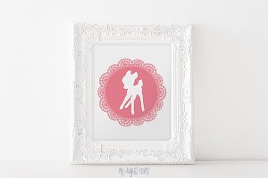 Pink Bambi Deer Printable Art