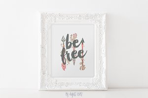 Arrow Be Free Quote Printable Art