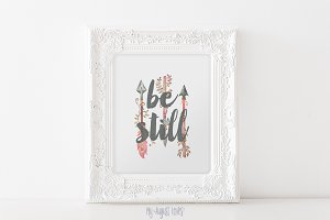 Arrow Be Still Quote Printable Art
