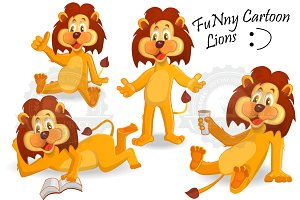 Cartoon lions