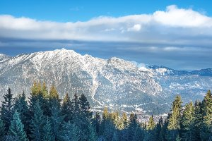 The view over the Bavarian Alpine
