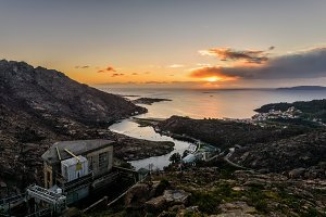 Sunset from Ezaro viewpoint, Spain