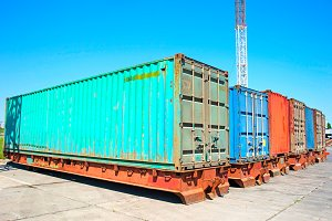 Cargo Containers at the docks