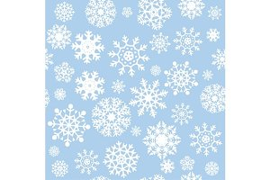 Snowflakes Seamless Background