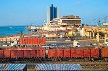 View of Odessa sea terminal.Ukraine