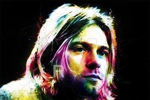 Kurt Cobain In POP Art