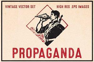 Propaganda - Vintage Vector Set