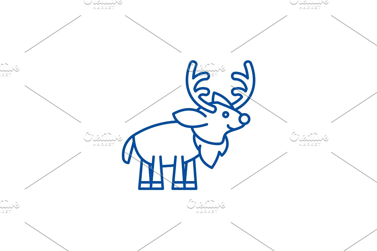 Festive deer line icon concept in Objects - product preview 8