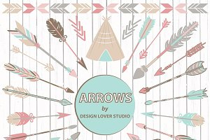 Vector arrows cliparts