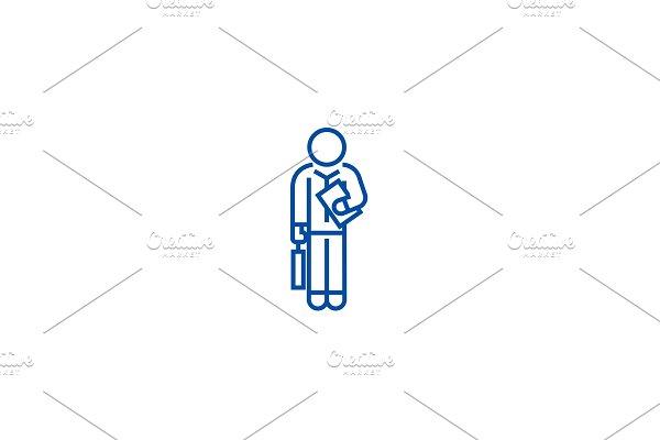 Financial consultant 32 line icon