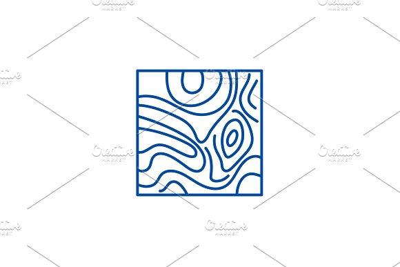 Floorboard line icon concept