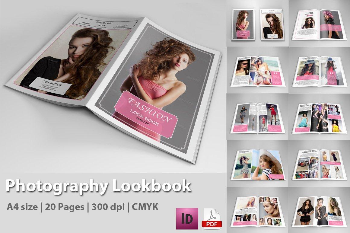 photography lookbook v149 magazine templates creative market