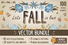 Vintage Fall Vector Bundle + Bonus