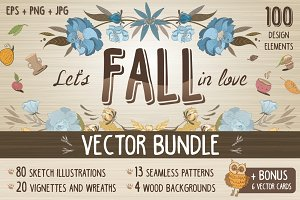Vintage Fall Vector Bundle + Bonus