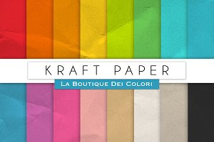 Colourful Kraft Digital Papers