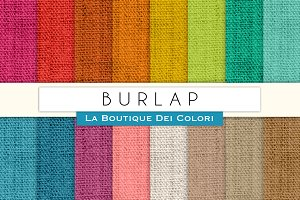 Colourful Burlap Digital Textures