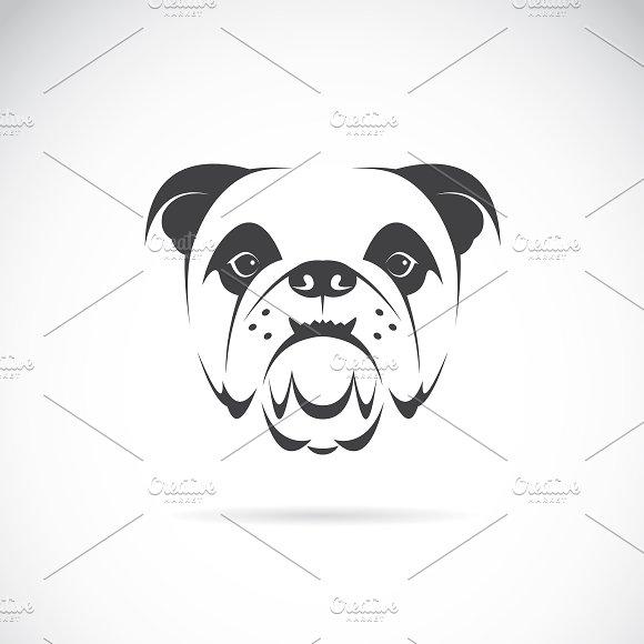 Vector of a dog face (bulldog). Pet.