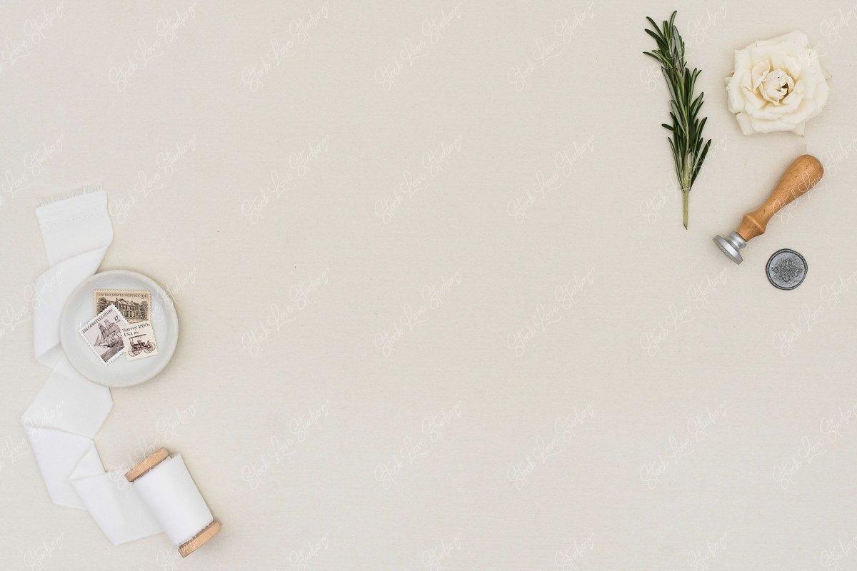 Stationery Flat Lay | Wedding Mockup
