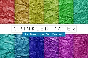 Colourful Crinkled Digital Papers