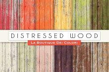 Distressed Wood Digital Papers