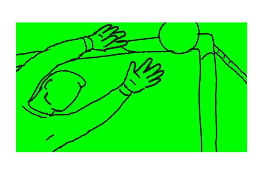 Animation Goalie Saving Soccer Goal
