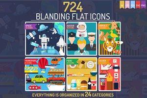 724 Blanding Flat Icons