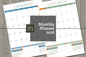 Monthly Planner 2016 (MP04)