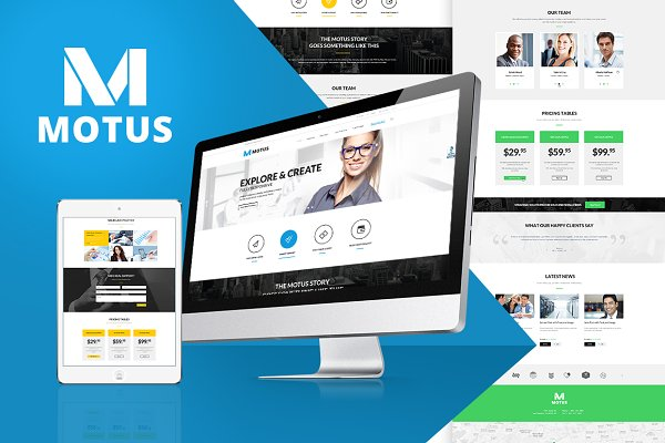 WordPress Business Themes: ThemeREX - Motus Business & Corporate WP Theme