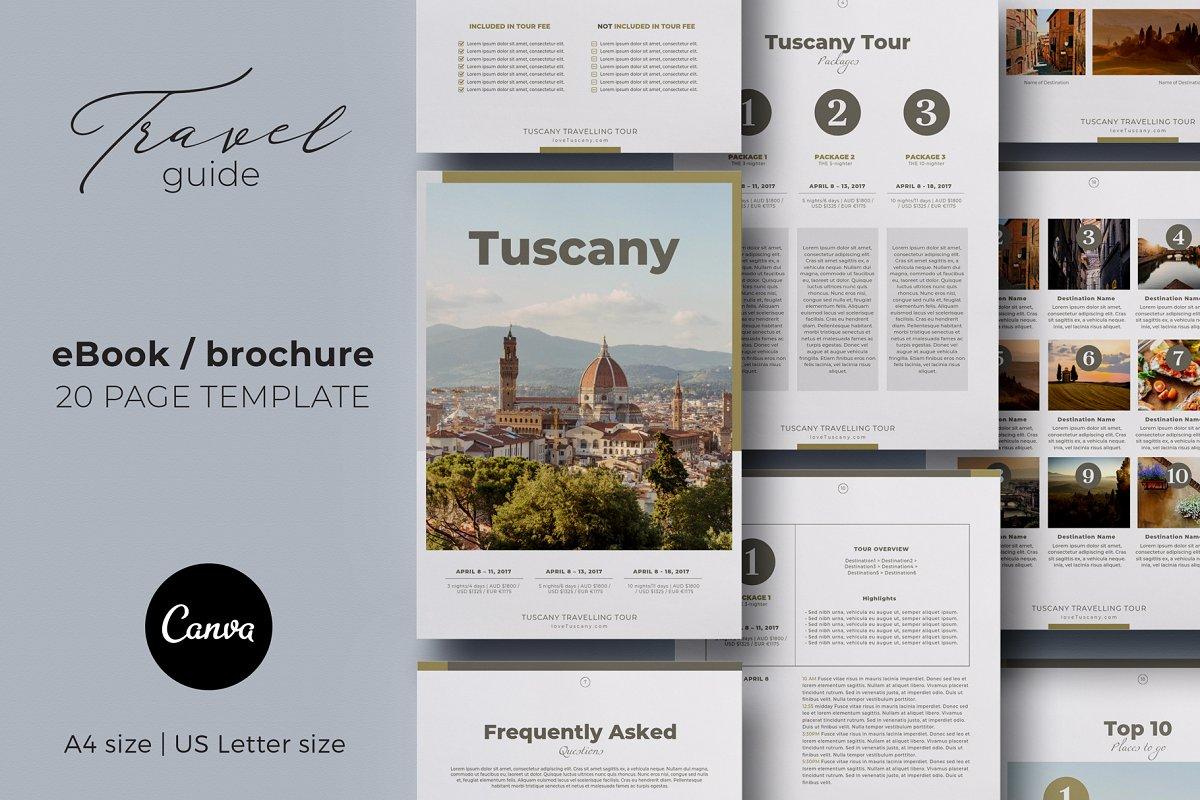 Canva eBook / Brochure Travel Guide ~ Magazine Templates