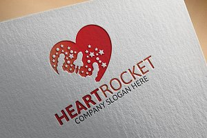 Heart Rocket Logo
