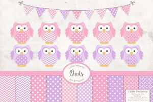 Fresh Pink Owl Vectors & Papers