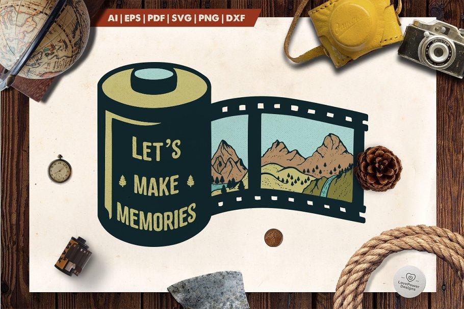 Mountain Film Roll Logo / Badge