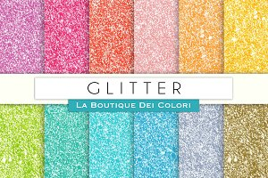 Colourful Glitter Digital Papers