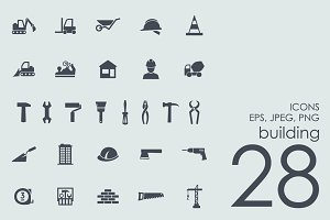 28 building icons