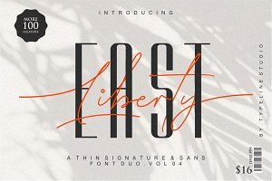 East Liberty | Thin Signature & Sans