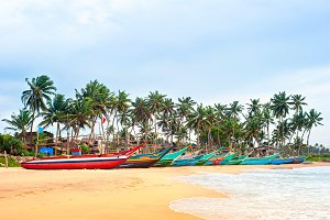 Sri Lanka fisherman boats