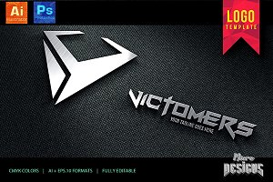 Victomers Logo Template